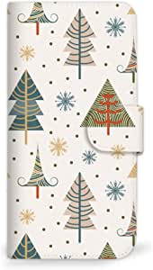 mitas 智能手机壳 手册式 圣诞 冬季 树 C 27_Qua phone QZ (KYV44)