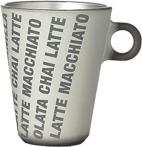 Leonardo Ooh Magico Espresso/Ooh Magico Latte/Grafia Espresso/Grafia Latte 金属杯 3 和 10 盎司 灰色 10 盎司 063892