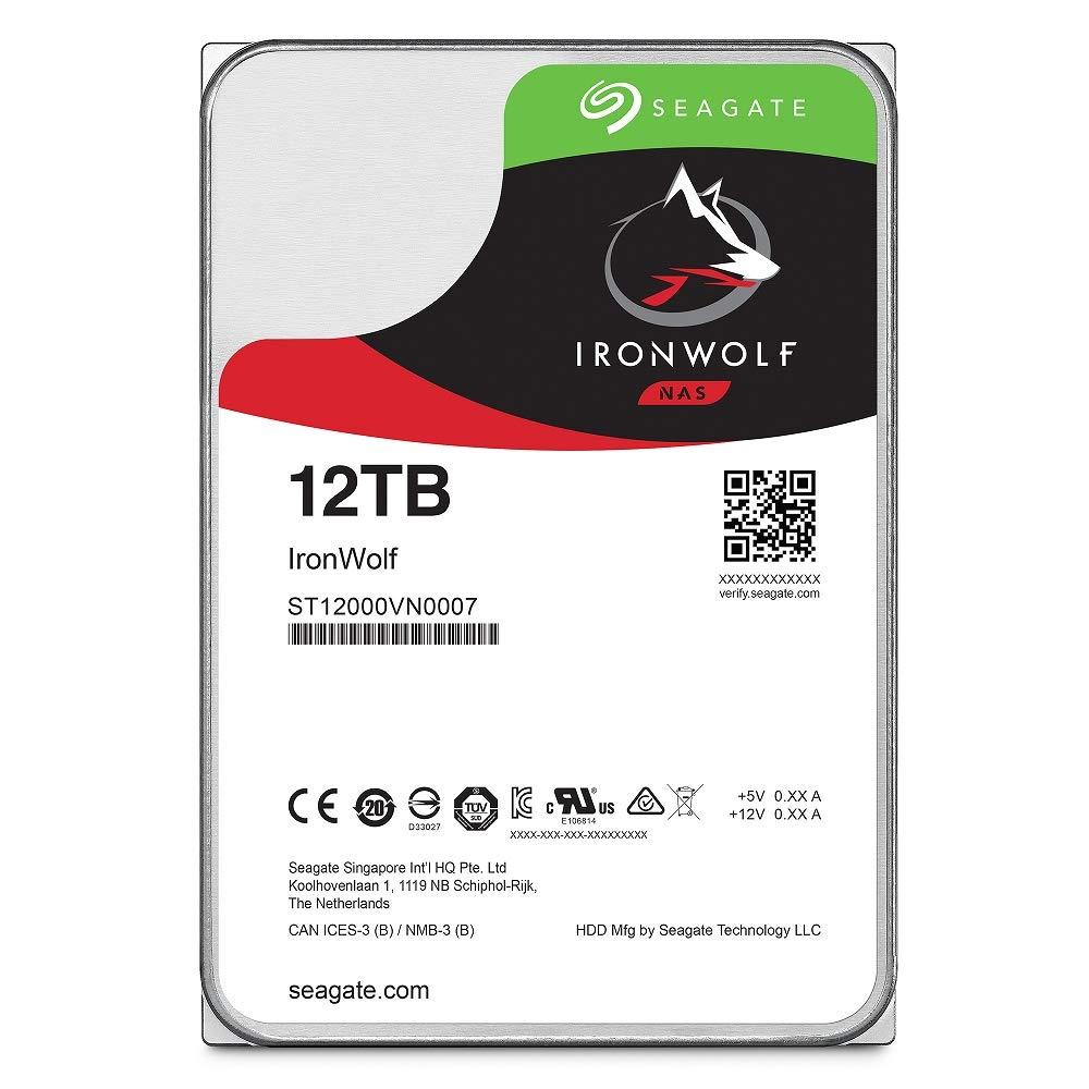 シーゲイトシーゲイトIronWolf 12TB NASの内蔵ハードドライブ -  3.5インチSATA 6Gb /秒RAIDネットワーク接続ストレージのための7200の速度の256MBのキャッシュ