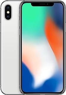 "Apple iPhone X, 5.8"" Display 64GB 十億字節 2017MQAD2ZD/A Handy ohne Vertrag 64 GB 銀"