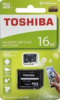 东芝 16GB Micro SD 存储卡 M203 SDHC UHS1 U1 Class10 带 SD 适配器 (THN-M203K0160A2)