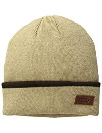 李维斯男式 Max 温暖无檐小便帽,纯色袖口镶边条纹