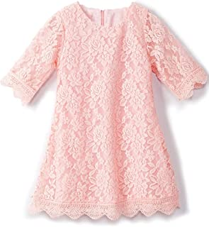 APRIL 女孩花裙,蕾丝连衣裙 3/4 袖连衣裙