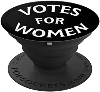 Votes For Women 100 Years Right to Vote 1920-2020 复古 PopSockets 手机和平板电脑支架。260027  黑色