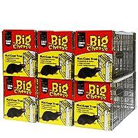 The Big Cheese 老鼠笼陷阱(用于诱虫害的即用人类陷阱,改进设计,带有弹簧激活陷阱门) - 6 件装