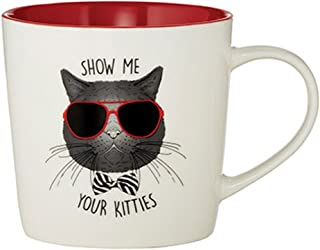 Cattitudes 爱猫人士陶瓷咖啡杯,425.24g Show Me Your Kitties 3.75 inches B1271