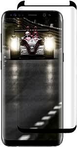 Galaxy S8 黑色屏幕保护膜 [HD - 透明][防指纹]高级钢化玻璃屏幕保护膜 适用于三星 Galaxy S8 [1PACK]