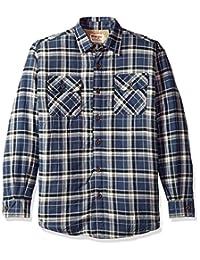 WRANGLER 男式 authentics 长袖羊绒衬里法兰绒衬衫