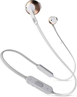 JBL TUNE205BT 蓝牙耳机 带麦克线控/开放式 玫瑰金 JBLT205BTRGD