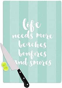 """KESS InHouse Sylvia Cook""""Beaches & Bonfires-Mint"""" *排版砧板,29.21 x 40.01 厘米,多色"""