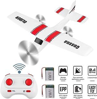 遥控飞机 B17 2 通道 2.4GHz 遥控飞机内置陀螺仪系统 EPP 准备飞行远程控制飞机适合户外飞行 13.70in