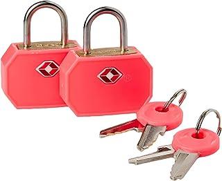 Lewis N. Clark TSA 迷你挂锁 2 件装 粉红色 均码