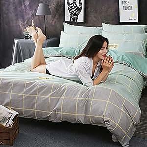 帕兰帝 一米八时尚简约纯色条纹纯棉1.5/2.0米床单床笠款床上用品四件套 吉斯莉-灰(PS) 1.8米床(被套200*230床笠180*200)