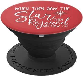 基督教圣经章圣诞节设计 PopSockets 手机和平板电脑抓握支架260027  黑色