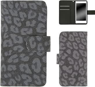 Whitenuts 手机保护壳 翻盖型 豹纹WN-OD521802_L 7_ HUAWEI P30 lite MAR-LX1A 灰色