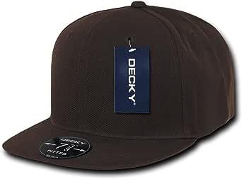 Decky Men's Fitted Baseball Hat Flat Bill