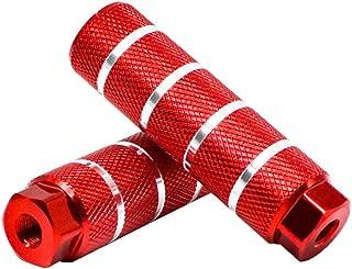 KINSPORY 3/8 英寸 - 26 齿铝合金自行车脚踏板后座支撑 2 件装 - 红色