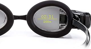 FORM 游泳护目镜,活动追踪器,透明智能显示屏,内置优质防雾泳镜,银色镜面