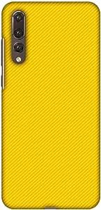 amzer 修身手工定制设计师印花扣紧式硬壳手机壳后盖壳带屏幕清洁套装适用于华为 P20PRO Carbon Fibre Redux Cyber Yellow 13