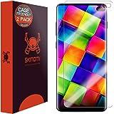 "Skinomi TechSkin [2 件装](兼容手机壳)透明屏幕保护膜适用于三星 Galaxy S10 Plus (S10+ 6.4"") [不适用于 Verizon Galaxy S10 5G 6.7""] 防气泡高清 TPU 膜"