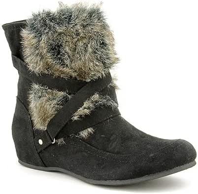 MIA Leanore 及踝短靴 套穿 冬靴 合成材质 黑色 尺码 9