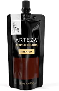 Arteza 丙烯酸颜料 Mars Brown A153 4.06 oz Pouch ARTZ-8634