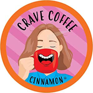 Crave Coffee Single-Cup Coffee for Keuirg K-Cup Brewers, Cinnamon, 40 Count