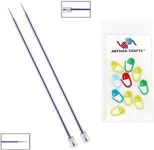 knitter's Pride Zing 单尖织针14厘米 with 10artisga 工艺品 stitch 马克笔