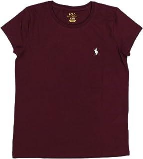 Polo Ralph Lauren 保罗拉夫劳伦女式圆领运动T恤(L,栗色)