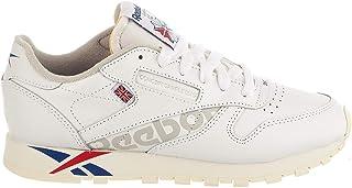 Reebok 锐步 女式经典皮革运动鞋,成人,白色/深皇家蓝/外部*