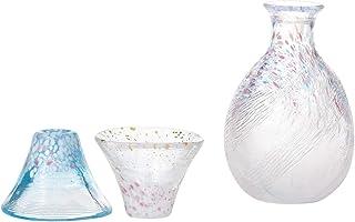 东洋佐佐木玻璃 日本酒杯 招福杯 樱富士 粉色 蓝色 G642-M78