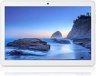 平板电脑 10 英寸 Android 8.1 Oreo(Google 认证),3G 解锁 Phablet 带双 SIM 卡插槽和摄像头,2 + 32GB 存储,6000Mah 电池,带 WiFi的平板电脑,蓝牙,GPS