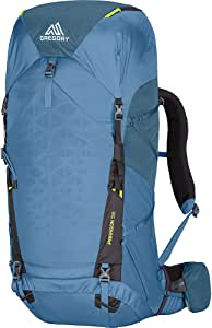 Gregory Mountain Products Paragon 58 升男式轻便多日背包,包括雨罩、水袋和日间包、轻质结构 - 轻便舒适