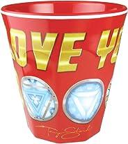 T's FACTORY 坦克杯 I LOVE YOU 3000 H8.7×Φ8.3cm 漫威 三聚氰胺杯 MV-5525335LY