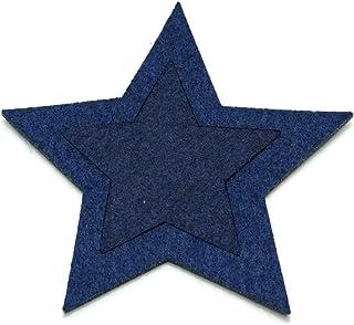 FU镜头 海儿 毛毡杯垫 双明星 藏青色 11x11 JW-564-00