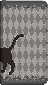 智能手机壳 手册式 对应全部机型 薄型印刷手册 cw-166top 套 手册 猫 超薄 轻量 UV印刷 壳WN-PR341100-MX Xperia Z5 SO-01H 图案D