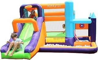 充气儿童跳城堡滑梯幼儿弹跳房子滑梯带空气鼓风机适用于儿童户外派对