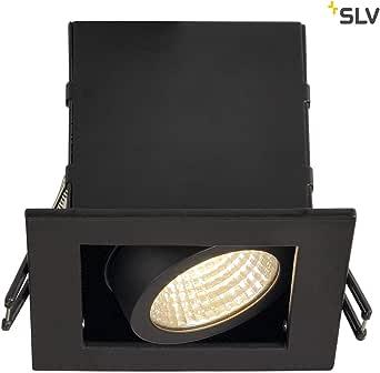 SLV 天花板内置聚光灯,Kadux 单瓦,Cob Led,3000 K,38 °,包含驱动器,夹羽毛,黑色 115700