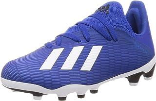 adidas 阿迪达斯中性款儿童 X 19.3 Mg J 足球鞋,蓝色(球队皇家蓝/FTWR白色/核心黑色),1.5 英国尺码