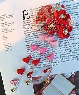 CRB 时尚女士女孩日本和服花朵开扎西式发饰领带夹
