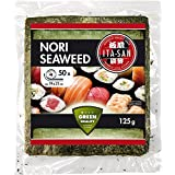 ITA-SAN 烤紫菜 用于制作寿司,50整张,海苔绿,2袋装(2 x 125 克)
