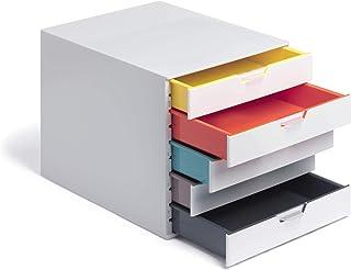 Durable 762527 抽屉盒 A4 (象牙色混合) 5 Fächer