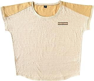 乐儿宝 Bobo 妈妈条纹 t恤 米黄色