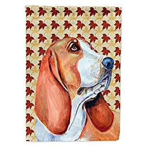 Basset Hound Fall Leaves Portrait Flag 多色 小号