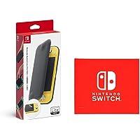 任天堂 Switch Lite翻盖保护套(附屏幕保护膜)(Amazon.co.jp限定)任天堂Switch LOGO设计超细纤维布)