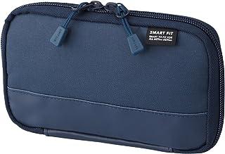 LIHIT LAB 緊湊型筆袋(鉛筆盒),防水防污,海軍藍,3.5英寸x 6.5英寸(A7687-11)