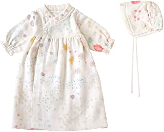 NAOMI ITO 棉纱婴幼儿连衣裙 [対象] 0ヶ月 ~ 12ヶ月 紫罗兰 50~70cm