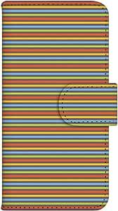 智能手机壳 手册式 对应全部机型 印刷手册 wn-246top 套 手册 条纹图案 UV印刷 壳WN-PR054888-ML AQUOS SH-M02 图案G