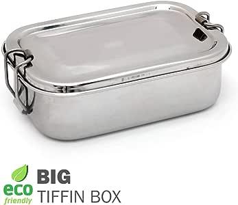 IndiaBigShop 不锈钢午餐盒 大码 Rectangular Shape