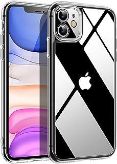 超清晰 iPhone 11 手机壳,保护硬质后盖和柔韧的保险杠防震硅胶 iPhone 11 手机壳 [防黄] iPhone 11 透明手机壳防刮亚克力手机壳适用于 iPhone 11 6.1 英寸